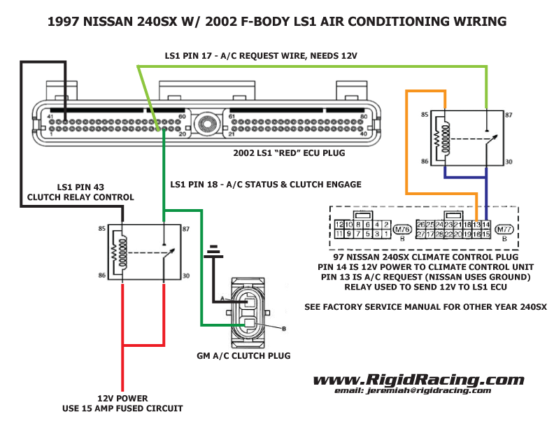S14 Alternator Wiring Diagram : Air conditioning in a sx with an ls swap the complete