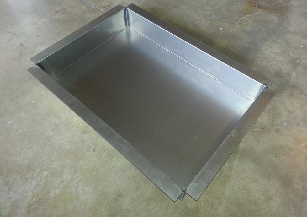 Trunk pan on ground